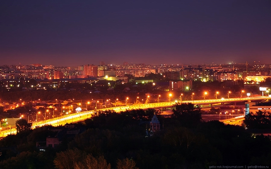 Omsk city, Russia night view