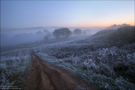 Frosty Russian dawn view 1