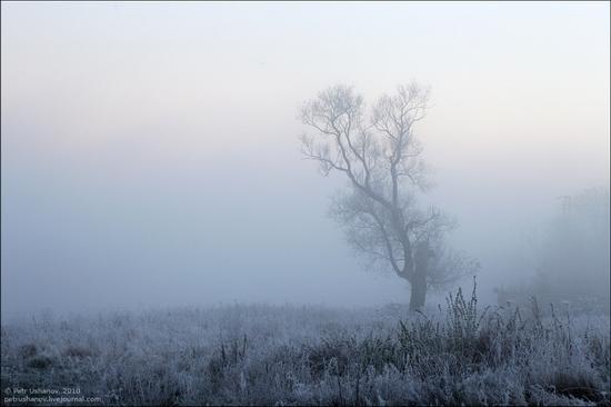 Frosty Russian dawn view 10