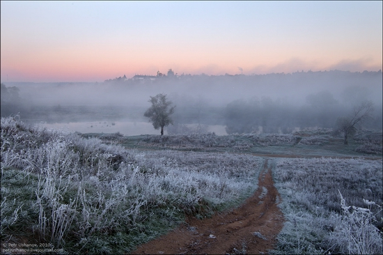 Frosty Russian dawn view 11
