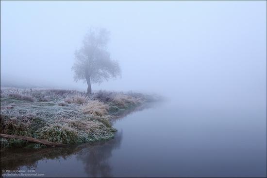 Frosty Russian dawn view 2