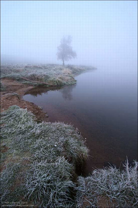 Frosty Russian dawn view 3