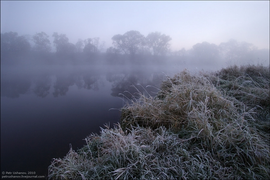 Frosty Russian dawn view 4