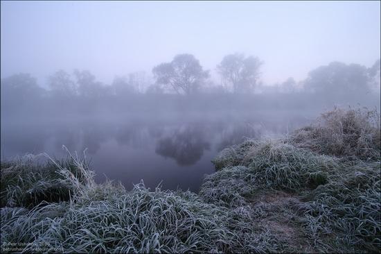 Frosty Russian dawn view 5