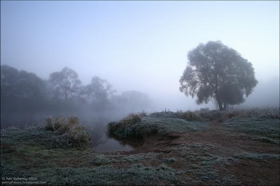 Frosty Russian dawn view 6