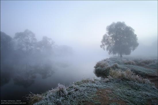 Frosty Russian dawn view 7