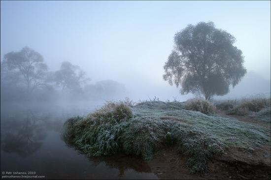 Frosty Russian dawn view 8