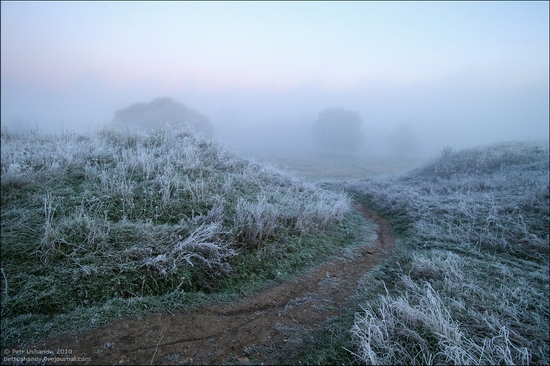 Frosty Russian dawn view 9