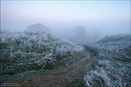 Frosty Russian dawn view 9