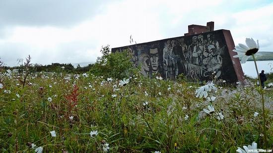 Kolskiy peninsula, Russia abandoned military base view 1