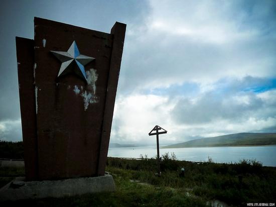 Kolskiy peninsula, Russia abandoned military base view 3