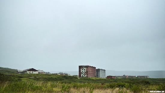 Kolskiy peninsula, Russia abandoned military base view 4
