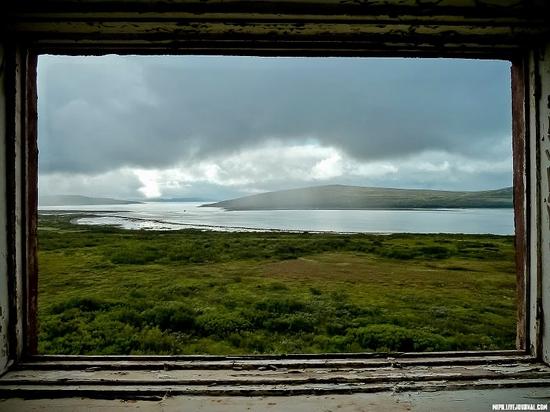 Kolskiy peninsula, Russia abandoned military base view 6
