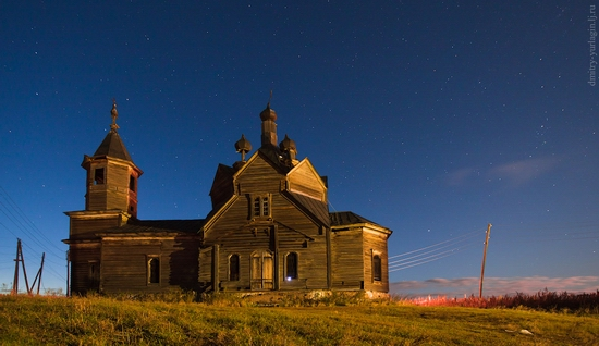 Krasnoyarsk krai, Russia abandoned wooden church 1