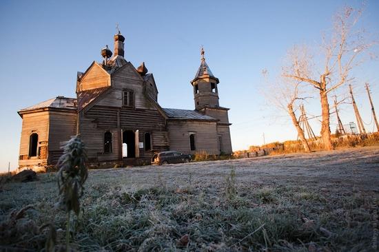 Krasnoyarsk krai, Russia abandoned wooden church 12