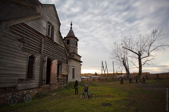 Krasnoyarsk krai, Russia abandoned wooden church 2