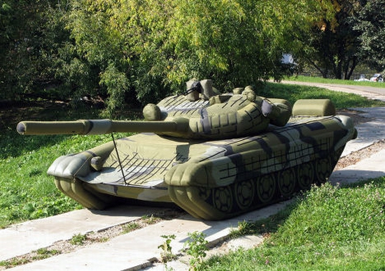 Russian inflatable war machines view 1st photo