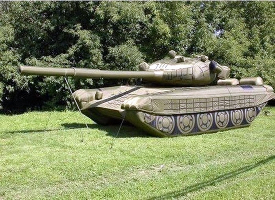 Russian inflatable war machines view 2nd photo