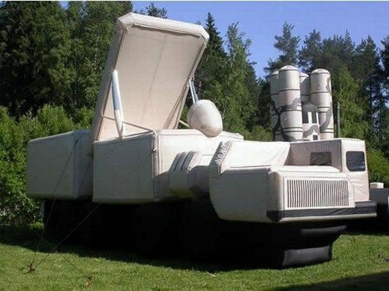 Russian inflatable war machines view 3rd photo