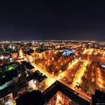 The views of Samara city at nighttime