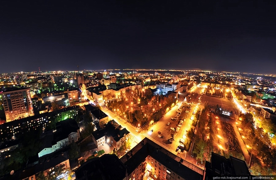 Samara city, Russia night view 1