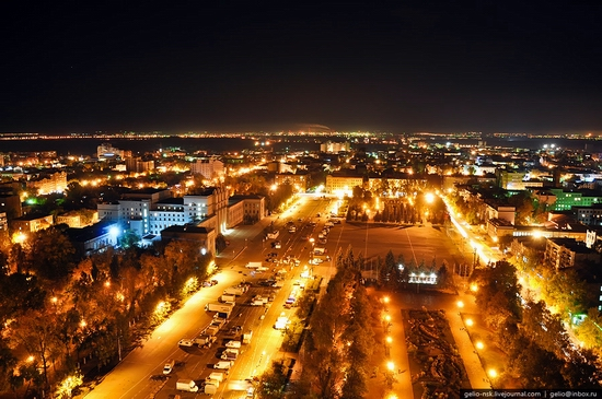 Samara city, Russia night view 4