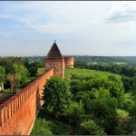 Smolensk city ancient kremlin sceneries