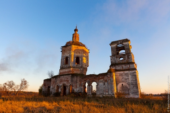 Tver oblast, Russia abandoned church view 13