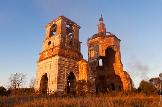 Tver oblast, Russia abandoned church view 14
