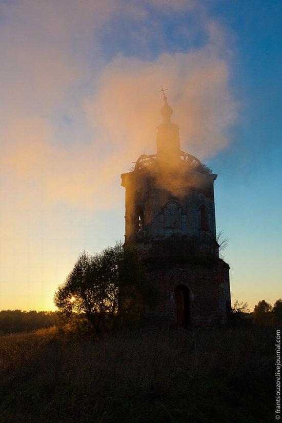 Tver oblast, Russia abandoned church view 16