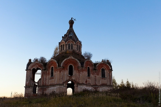Tver oblast, Russia abandoned church view 17