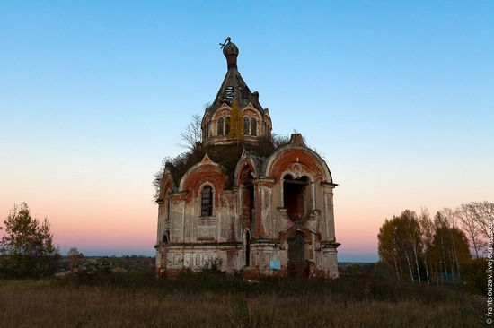 Tver oblast, Russia abandoned church view 18