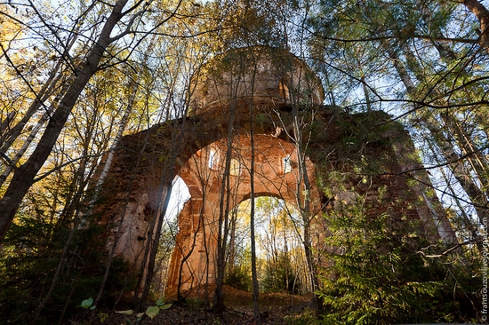 Tver oblast, Russia abandoned church view 8