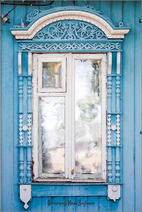 Kostroma city, Russia windows frames view 10