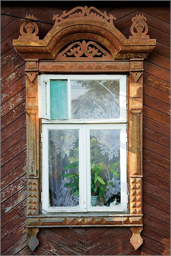 Kostroma city, Russia windows frames view 11