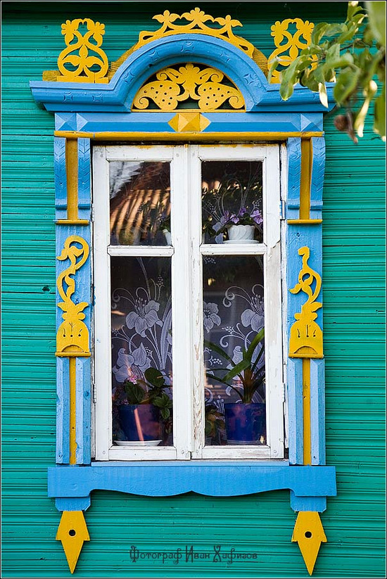 Kostroma city, Russia windows frames view 12