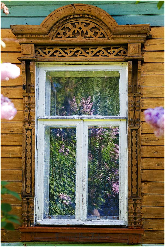 Kostroma city, Russia windows frames view 13