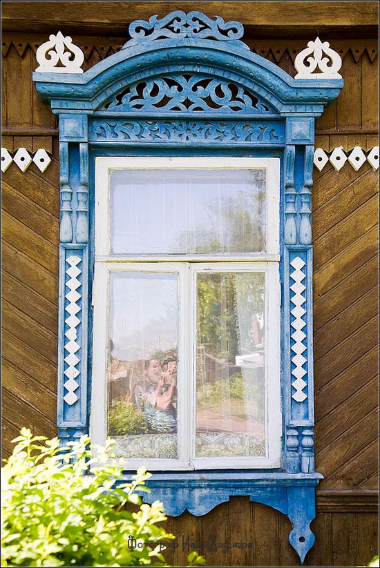 Kostroma city, Russia windows frames view 14