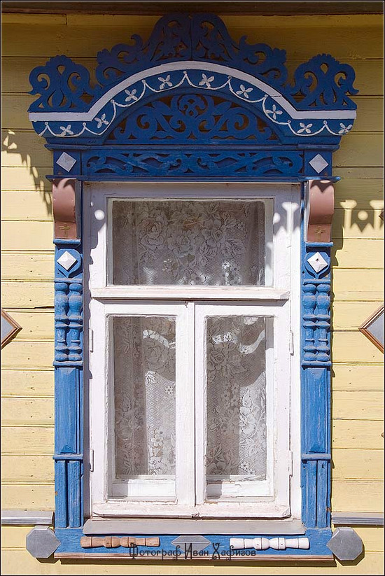 Kostroma city, Russia windows frames view 16