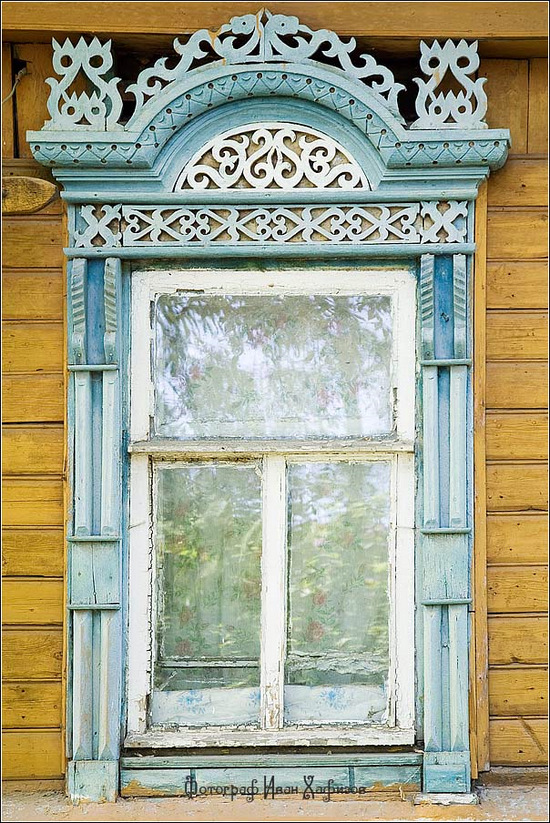 Kostroma city, Russia windows frames view 17