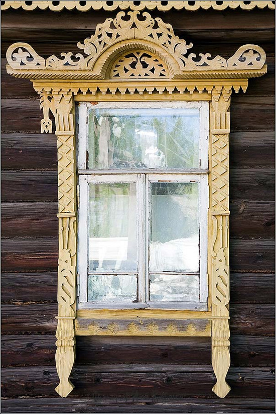 Kostroma city, Russia windows frames view 18