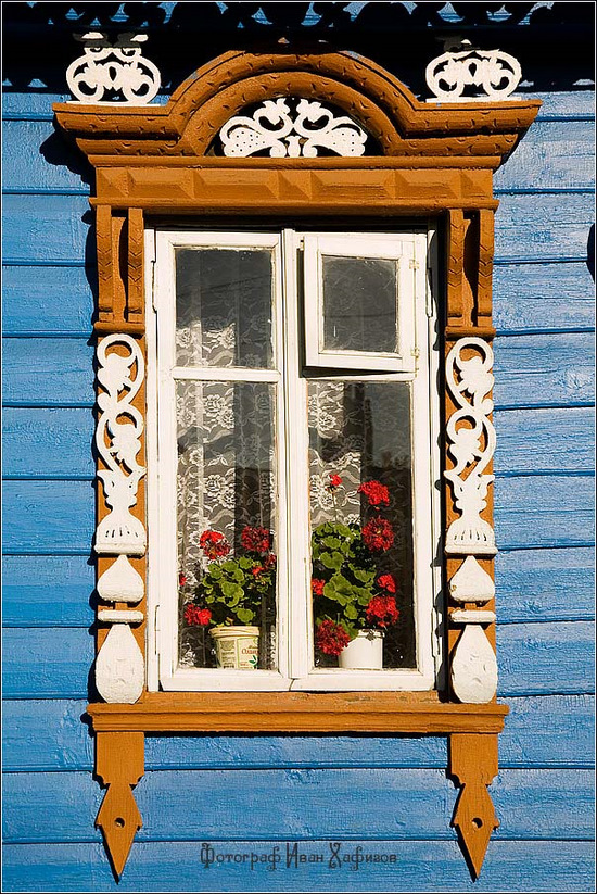 Kostroma city, Russia windows frames view 19