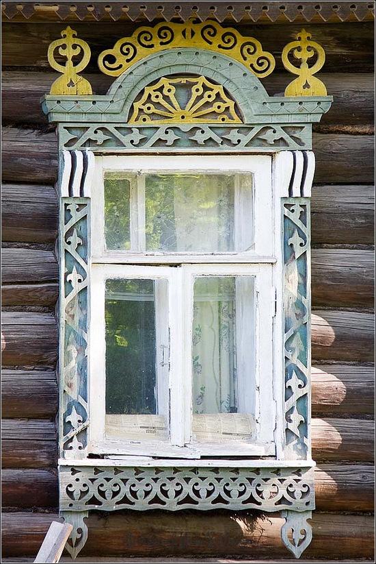Kostroma city, Russia windows frames view 2