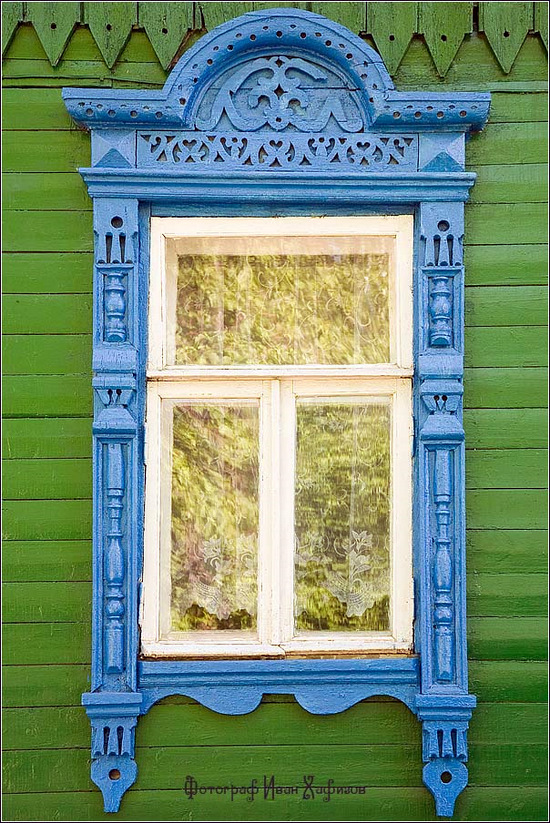 Kostroma city, Russia windows frames view 21