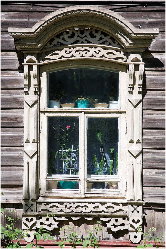 Kostroma city, Russia windows frames view 22