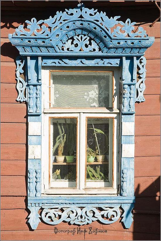 Kostroma city, Russia windows frames view 23