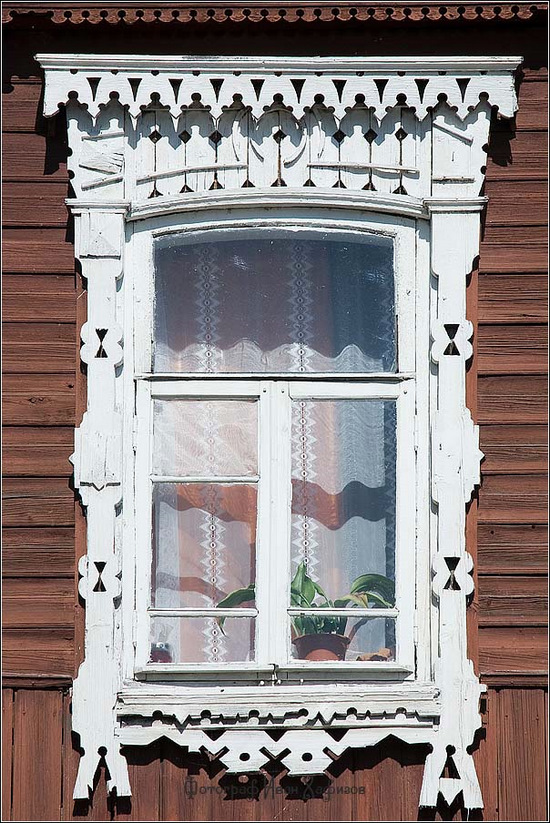 Kostroma city, Russia windows frames view 24