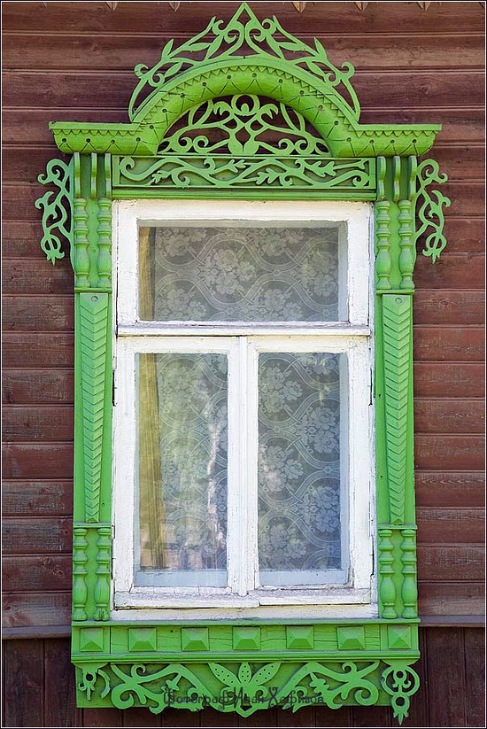 Kostroma city, Russia windows frames view 26