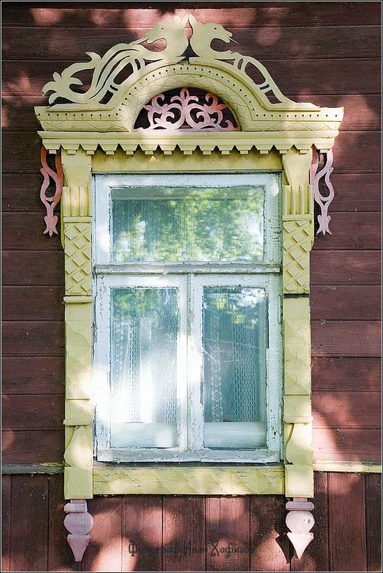Kostroma city, Russia windows frames view 29