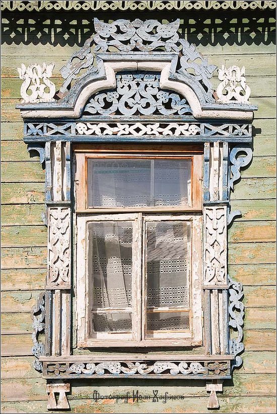Kostroma city, Russia windows frames view 3